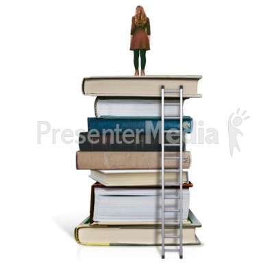 On Top Of Education - Woman Presentation clipart