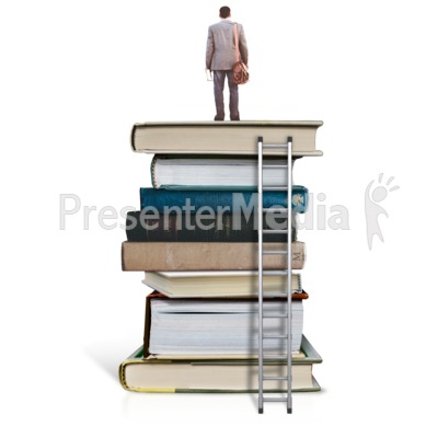 On Top Of Education - Man Presentation clipart