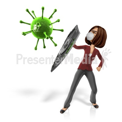 Woman Shield Virus Presentation clipart