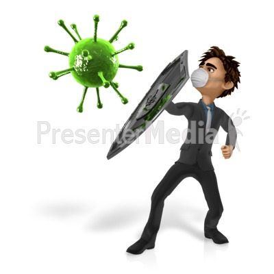 Man Shield Virus Presentation clipart
