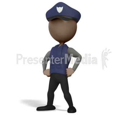 Police Officer Pose Presentation clipart
