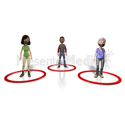 People Social Distancing Presentation clipart
