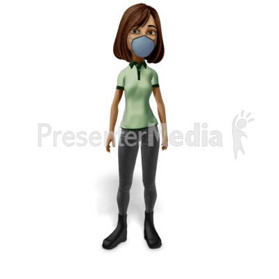 Woman Wearing Mask Presentation clipart
