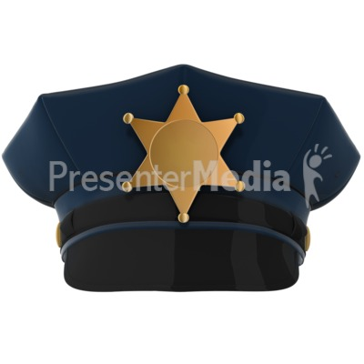Police Hat ClipArt Presentation clipart