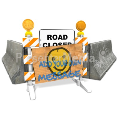 Defaced Roadblock Custom Presentation clipart