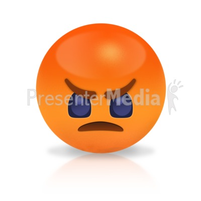 Sphere Angry Presentation clipart