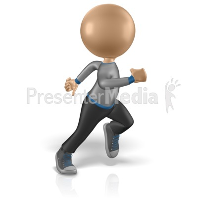 Guy Figure Running Pose Presentation clipart