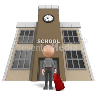 Stick Boy School Backpack Presentation clipart