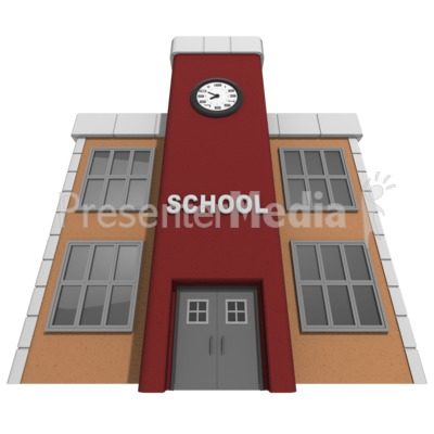 Towering School Building Presentation clipart