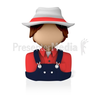 Male Farmer Icon Presentation clipart