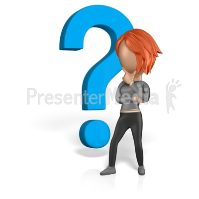 Woman Figure Thinking Question Presentation clipart