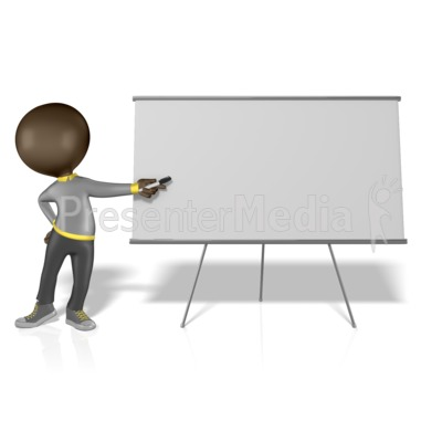 Figure Pointing at a Blank Board Presentation clipart
