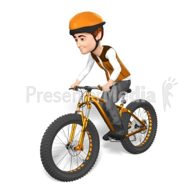 Grant Fat Bike Cyclist Ride Presentation clipart