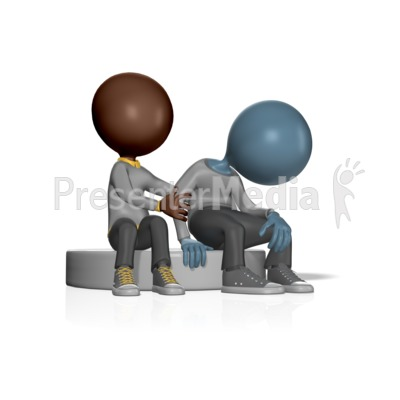 Figure Showing Compassion To Another Presentation clipart