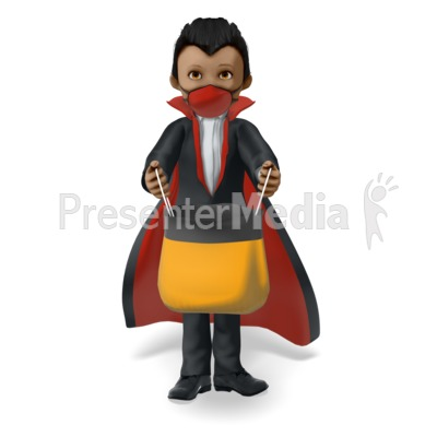 Young Vampire Wearing a Covid Mask on Halloween Presentation clipart