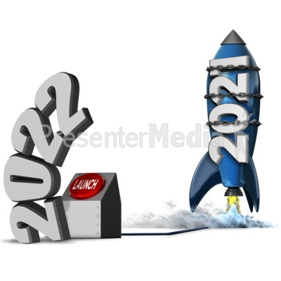 Year Blast Off Custom Presentation clipart