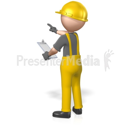 Construction Figure Clipboard Pointing Presentation clipart