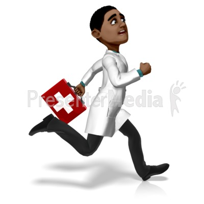 Doctor Ethan Running First Aid Kit Presentation clipart