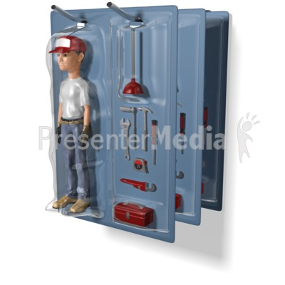 Maintenance Worker Packaged Presentation clipart