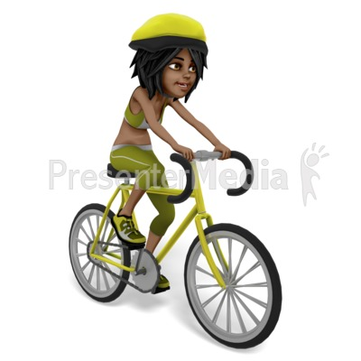 Jada Riding Bicycle Presentation clipart