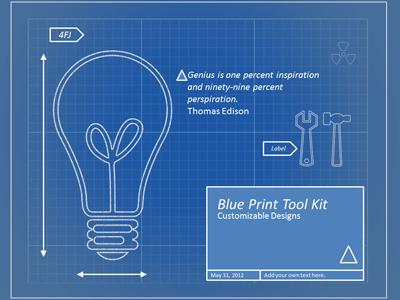 Blueprint tool kit a powerpoint template from presentermedia malvernweather Image collections