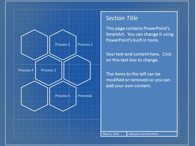 Blueprint tool kit a powerpoint template from presentermedia powerpoint template loading preview close malvernweather Choice Image