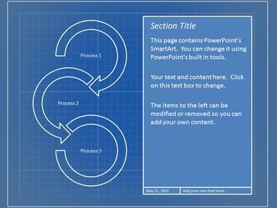 Blueprint tool kit a powerpoint template from presentermedia malvernweather Choice Image