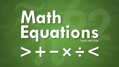 Math equations a powerpoint template from presentermedia toneelgroepblik Images