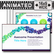Cascading Bubbles Powerpoint Slides PowerPoint Template