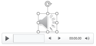 A media player with a audio icon selected.