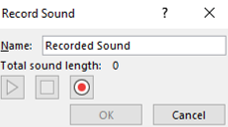 A image displaying the option to add audio recording to PowerPoint.