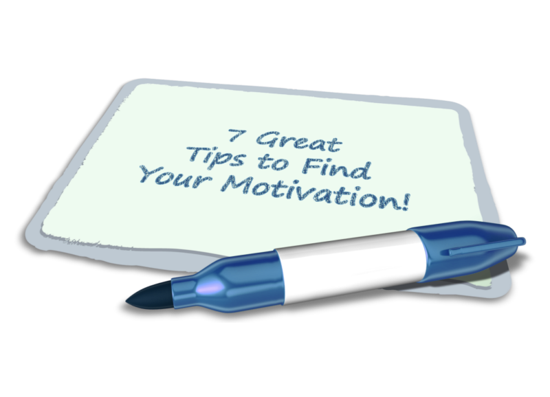 a note with the text 7 way to increase motivation at work